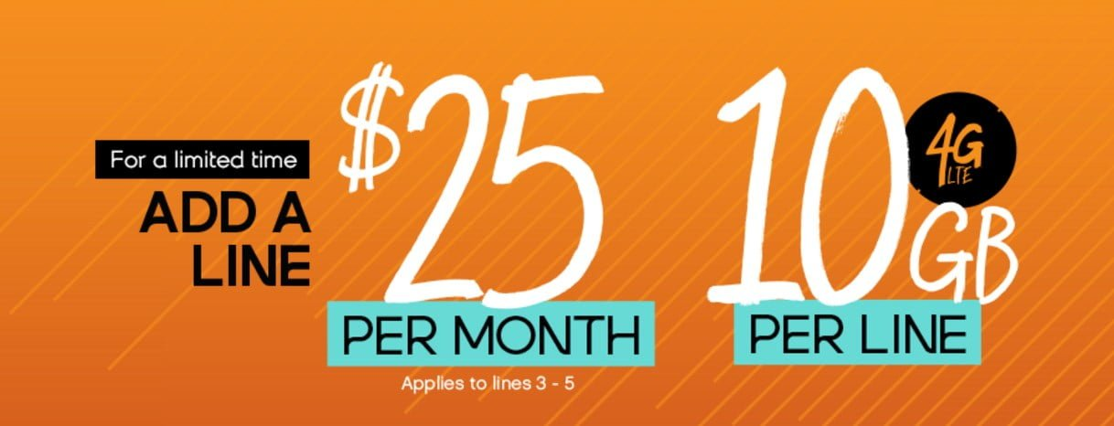 Get 2 Lines With 10 GB Of Data Each For $65 And Other Deals