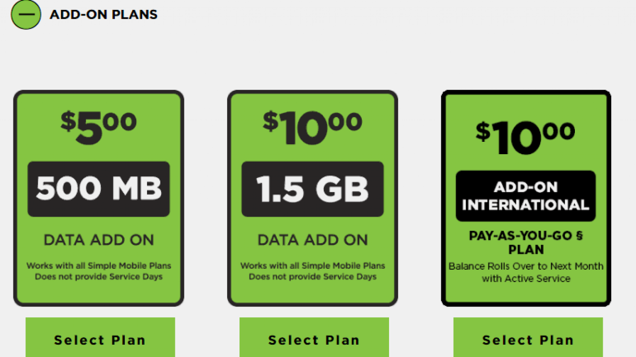 Simple Mobile Now Selling Data Add-On Cards – BestMVNO