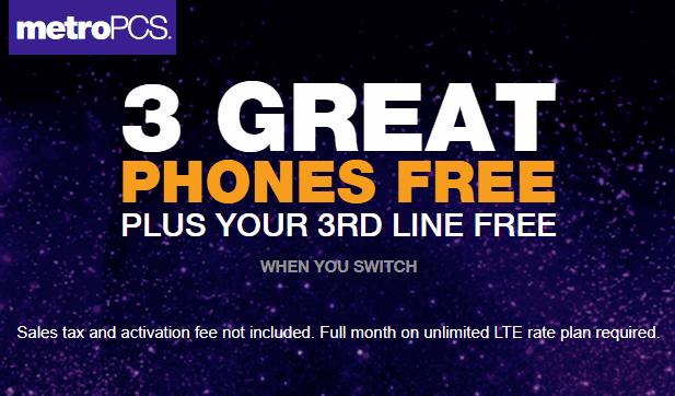 MetroPCS Announces 3 Unlimited LTE Data Lines For $78 Promo