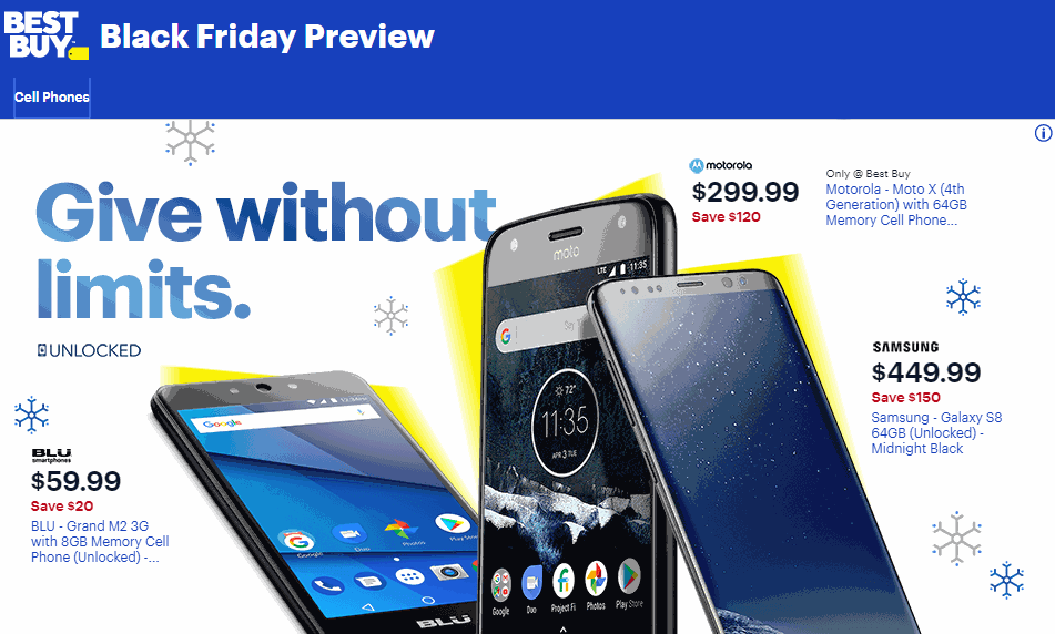 finest selection be317 bedde Best Buy And Walmart Black Friday 2018 Cell Phone Deals Revealed ...