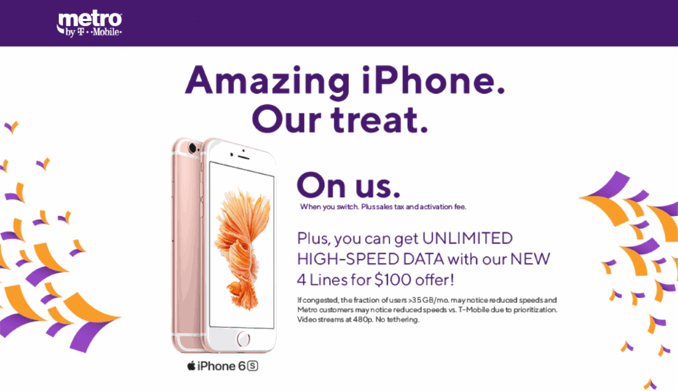 Metro Offering The iPhone 6S Free To Switchers, 4 Unlimited