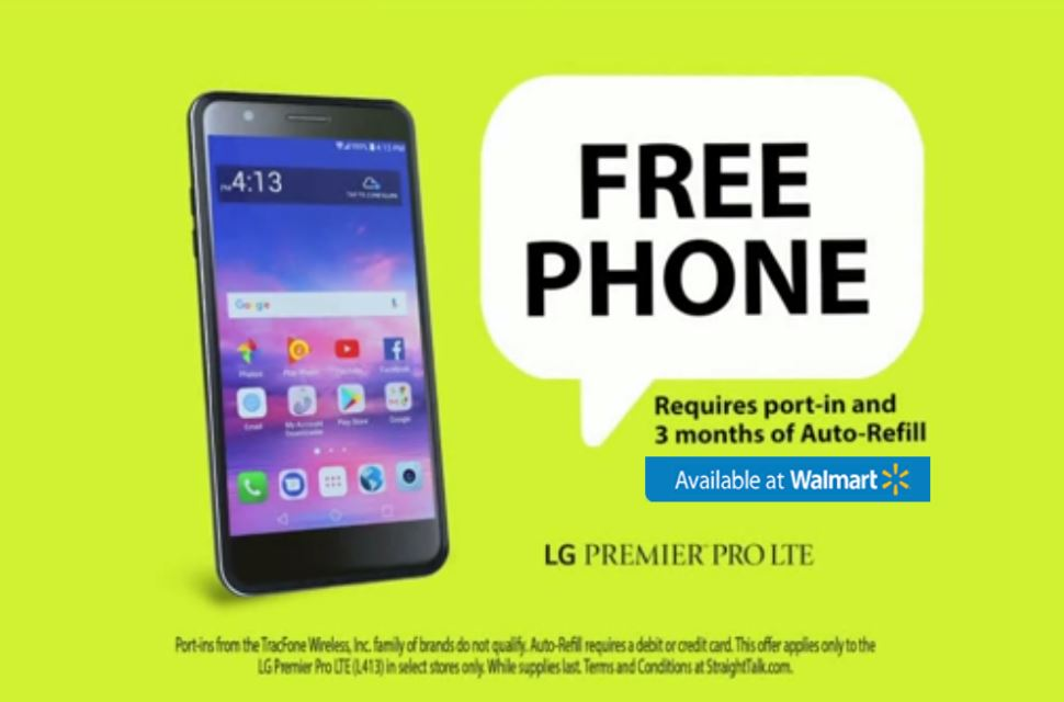 Straight Talk Wireless Is Offering Free Phone At Walmart, Perhaps